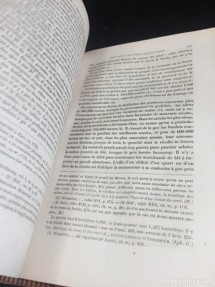 Libros de segunda mano: Essai sur le principe de population. Malthus Thomas Robert. 1852 plena piel. en francés. - Foto 7 - 247105715