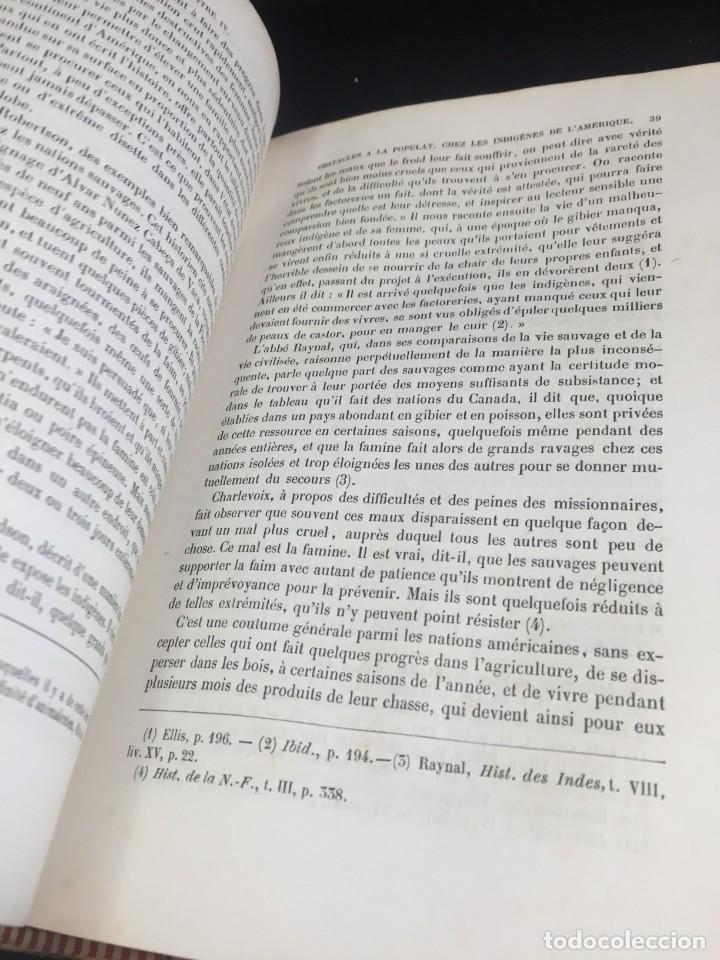 Libros de segunda mano: Essai sur le principe de population. Malthus Thomas Robert. 1852 plena piel. en francés. - Foto 8 - 247105715