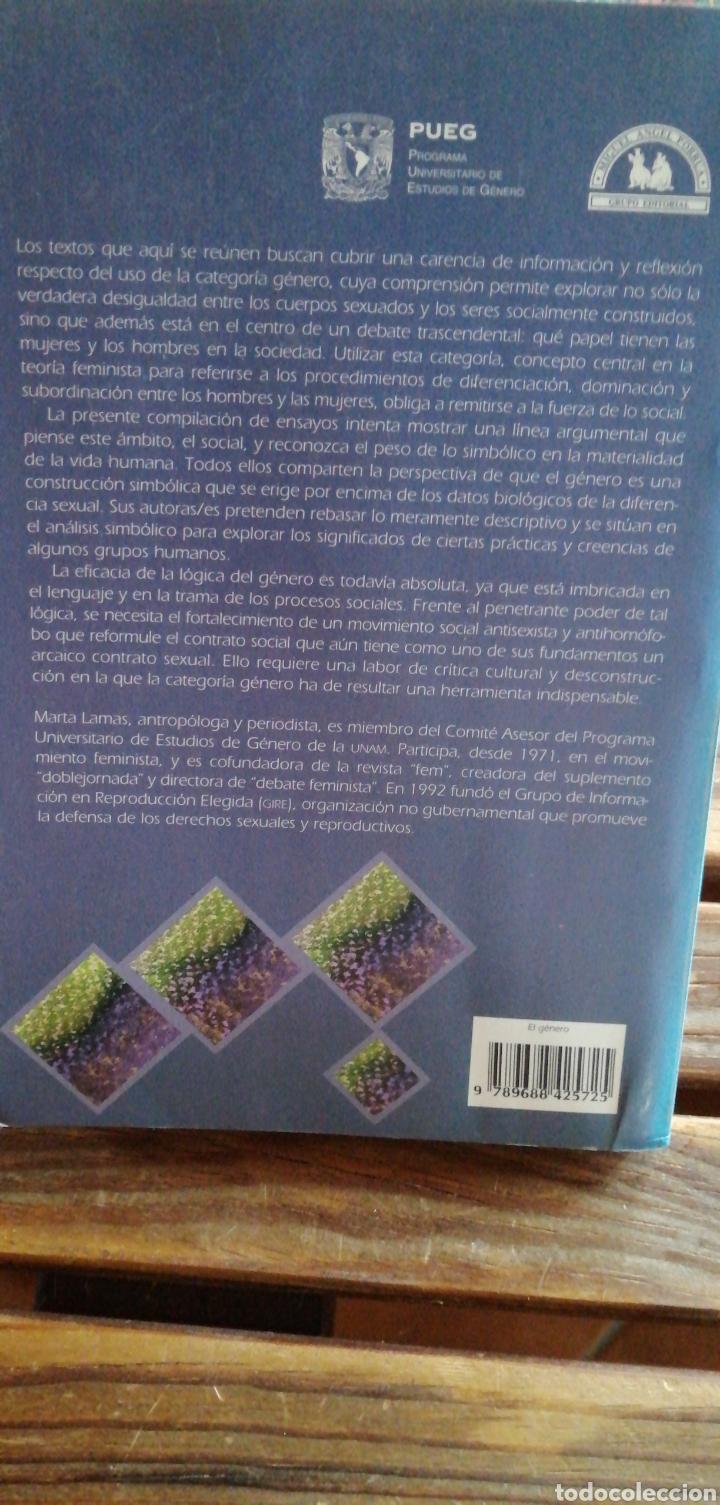 Libros de segunda mano: El género. La construcción cultural de la diferencia sexual. Marta Lamas (Compiladora) Miguel Angel - Foto 2 - 256036520