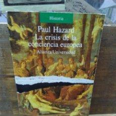 Libros de segunda mano: LA CRISIS DE LA CONCIENCIA EUROPEA. PAUL HAZARD.. Lote 261524985