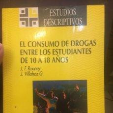 Libros de segunda mano: EL CONSUMO DE DROGAS ENTRE ESTUDIANTES 10 A 18 AÑOS. RONNEY. JUNTA DE ANDALUCÍA.. Lote 262261235