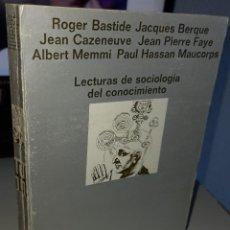 Libros de segunda mano: LECTURAS DE SOCIOLOGÍA DEL CONOCIMIENTO - AA.VV. Lote 262462515