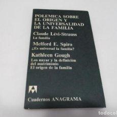 Libros de segunda mano: POLÉMICA SOBRE EL ORIGEN Y LA UNIVERSALIDAD DE LA FAMILIA W7067. Lote 262560015