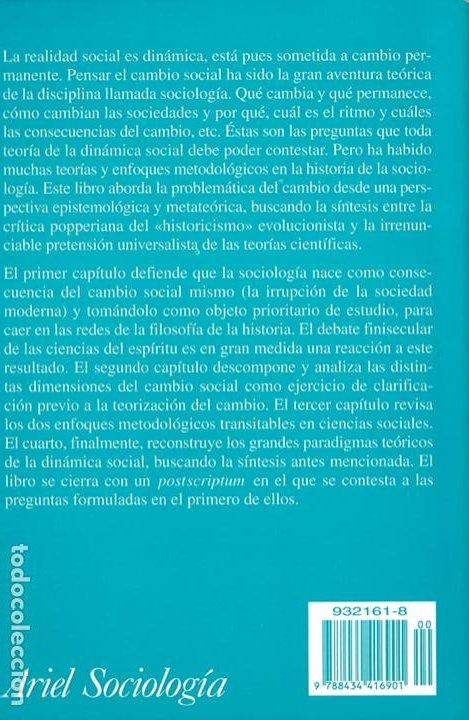 Libros de segunda mano: Sociología y cambio social / Andrés de Francisco - Foto 2 - 262627535