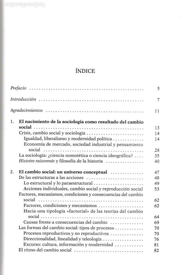 Libros de segunda mano: Sociología y cambio social / Andrés de Francisco - Foto 4 - 262627535