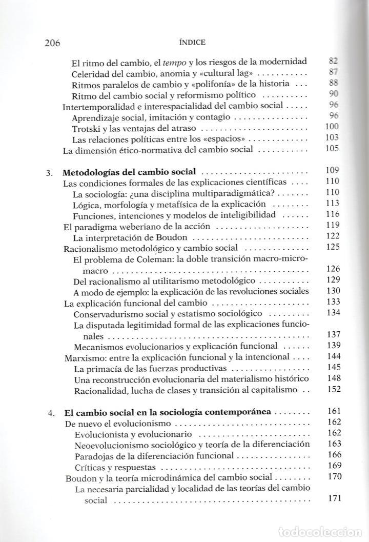 Libros de segunda mano: Sociología y cambio social / Andrés de Francisco - Foto 5 - 262627535