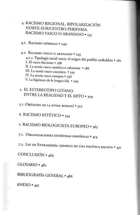 Libros de segunda mano: Historia del racismo en España / José María del Olmo - Foto 5 - 262668860