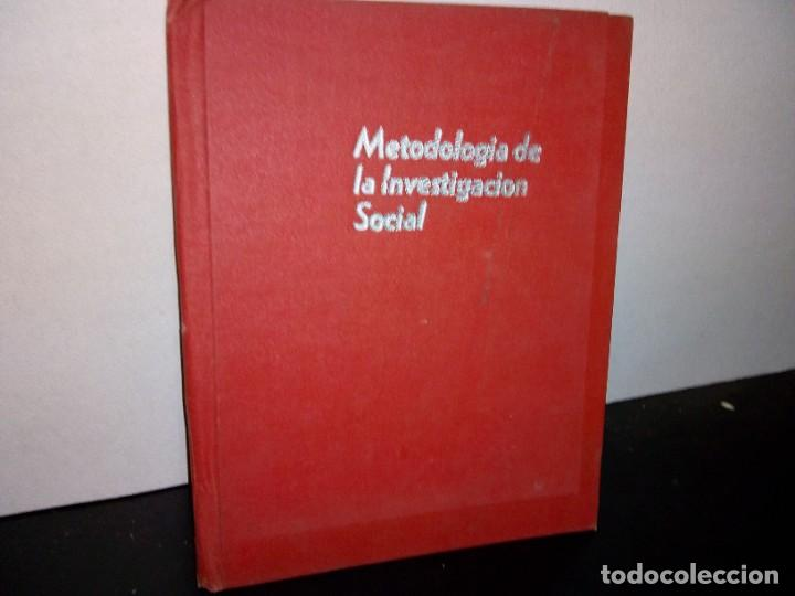 1- METODOLOGÍA DE LA INVESTIGACIÓN SOCIAL - SEP 70'S (Libros de Segunda Mano - Pensamiento - Sociología)