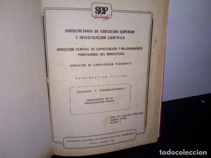 Libros de segunda mano: 1- Metodología de la investigación social - SEP 70s - Foto 3 - 262669175