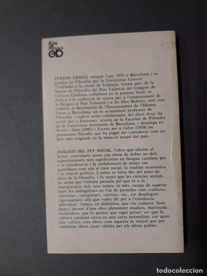 Libros de segunda mano: GRAELL, FERRAN. ANÀLISIS DEL FET SOCIAL - Foto 3 - 262721465
