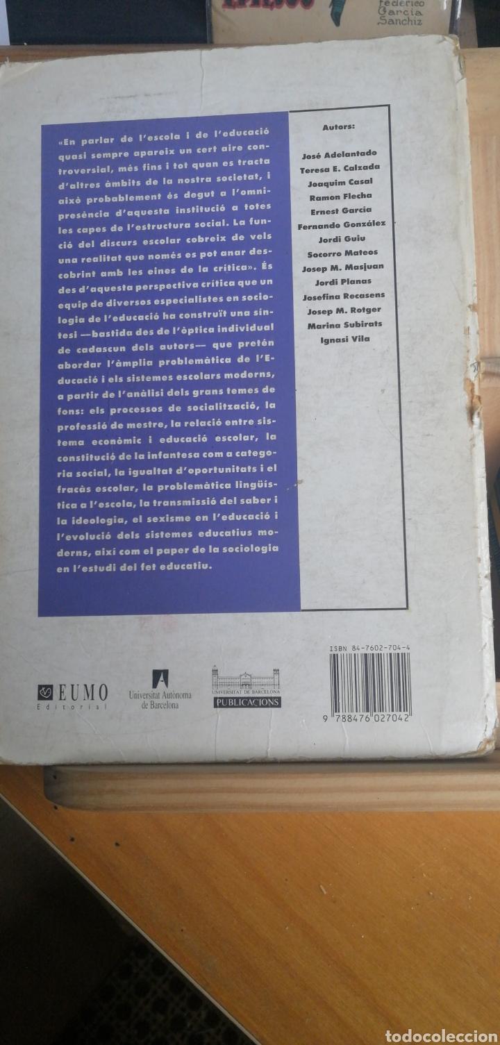 Libros de segunda mano: SOCIOLOGIA DE L EDUCACIO. JOSEP MARIA ROTGER (coord) 1990 universidads de barceloona in 4 rustica 30 - Foto 2 - 262724020