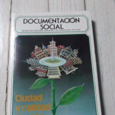Libros de segunda mano: DOCUMENTACIÓN SOCIAL - CIUDAD Y CALIDAD DE VIDA - REVISTA DE ESTUDIOS SOCIALES Y DE SOCIOLOGÍA APLIC. Lote 266007468