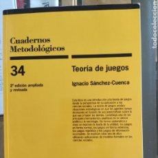 Libros de segunda mano: TEORÍA DE JUEGOS - IGNACIO SÁNCHEZ CUENCA. Lote 267466959