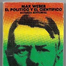 Libros de segunda mano: MAX WEBER . EL POLÍTICO Y EL CIENTÍFICO. Lote 268252709