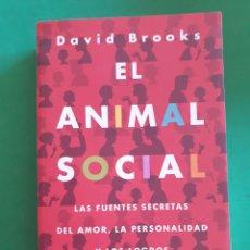 Libros de segunda mano: EL ANIMAL SOCIAL. DAVID BROOKS. EDICIONES B. 2012. Lote 268966244