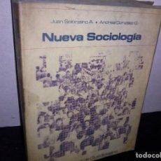 Libros de segunda mano: 27- NUEVA SOCIOLOGÍA - JUAN SOLÓRZANO A.. Lote 269376193