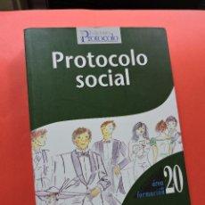 Libros de segunda mano: PROTOCOLO SOCIAL. CASTRO MAESTRE, MARÍA DEL MAR. EDICIONES PROTOCOLO ÁREA DE FORMACIÓN 20 2009. Lote 269582473