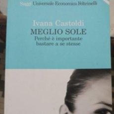 Libros de segunda mano: MEGLIO SOLE EN ITALIANO. Lote 269788798
