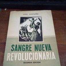 Libros de segunda mano: SANGRE NUEVA REVOLUCIONARIA CASTAÑO, LUIS PUBLICADO POR EDITORIAL ARPE, MÉXICO, D.F, 1958. Lote 270862038