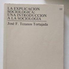 Libros de segunda mano: LA EXPLICACION SOCIOLOGICA: UNA INTRODUCCION A LA SOCIOLOGIA. JOSE FELIX TEZANOS. Lote 270942973