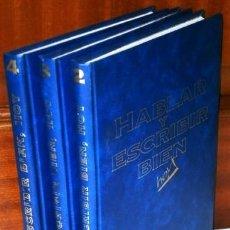 Libros de segunda mano: HABLAR Y ESCRIBIR BIEN HOY / DIRECTOR: JOSÉ G. VILLAFAÑE / ED. VIDELEC F&G EN MADRID 1992. Lote 275922088