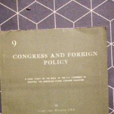 Libros de segunda mano: CONGRESS AND FOREIGN POLICY BY FAGHIL ZAKY MOHAMAD PH.D.Nº123 1965. Lote 275962933