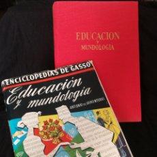 Libros de segunda mano: EDUCACIÓN Y MUNDOLOGIA, 1959,ENCICLOPEDIAS DE GASSO, BUEN ESTADO.. Lote 277523473