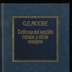Libros de segunda mano: DEFENSA DEL SANTIDO COMÚN Y OTROS ENSAYOS, POR G.E.MOORE, EDIT. AÑO 1983. Lote 287828253