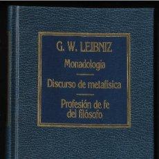 Libros de segunda mano: MONADOLOGÍA Y OTROS, POR G.W.LEIBNIZ. EDIT. AÑO 1983. Lote 287831988