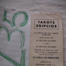 Libros de segunda mano: LIBRO - TAROTS EGIPCIOS - ENVIO GRATIS A ESPAÑA . Lote 42922346