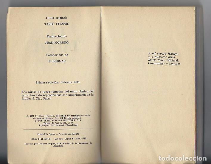Libros de segunda mano: EL TAROT CLASSIC - STUART R. KAPLAN - AÑO 1985 - P&J - Foto 3 - 64451799
