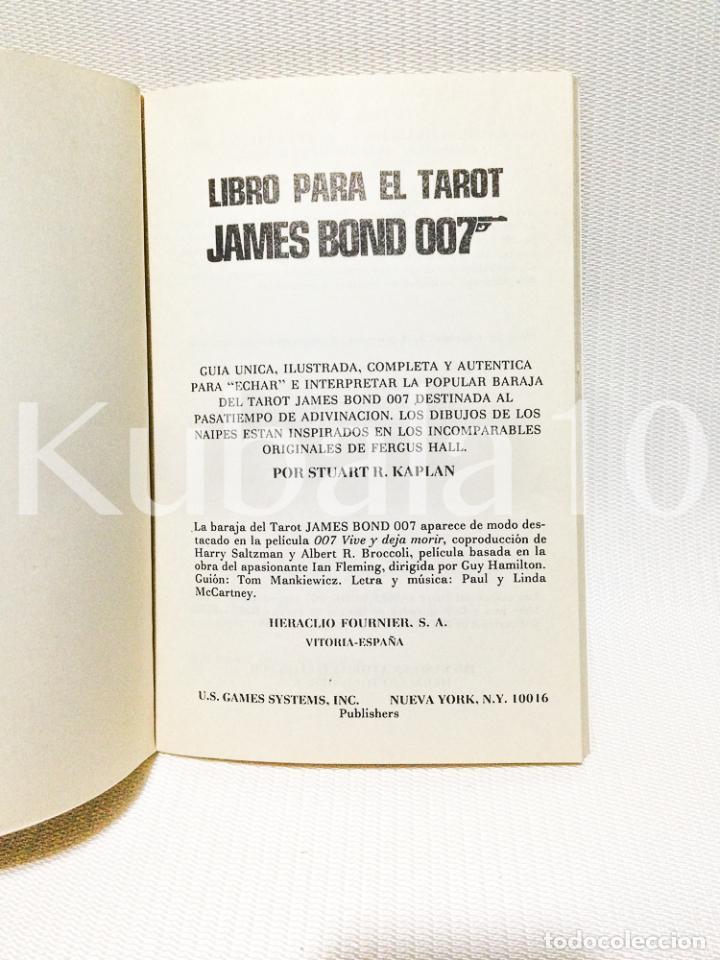 Libros de segunda mano: LIBRO PARA EL TAROT · JAMES BOND · 007 ·· - Foto 6 - 64593839
