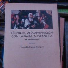 Libros de segunda mano: TÉCNICAS DE ADIVINACIÓN CON LA BARAJA ESPAÑOLA. SU METODOLOGÍA (MADRID, 1996). Lote 139967994