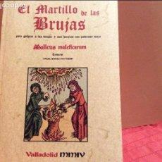 Libros de segunda mano: EL MARTILLO DE LAS BRUJAS EDITORIAL MAXTOR VALLADOLID. Lote 103323948