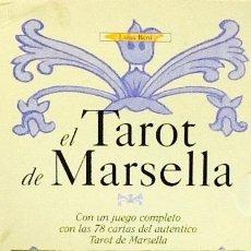 Libros de segunda mano: EL TAROT DE MARSELLA. LUISA BENI. EDITORIAL DE VECCHI. LIBRO + JUEGO DE 78 CARTAS AUTENTICO TAROT. Lote 100931479