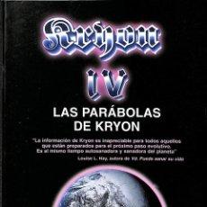 Libros de segunda mano: KRYON IV LAS PARÁBOLAS DE KRYON.. Lote 106147314