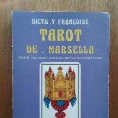 Libri di seconda mano: TAROT DE MARSELLA, SIMBOLOGIA, CARTAS, INTERPRETACION, DICTA Y FRANCOISE, LUIS CARCAMO EDITOR, 1982. Lote 107417828