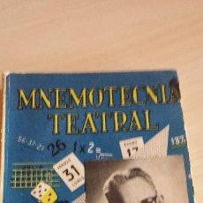 Libros de segunda mano: MNEMOTECNIA TEATRAL DE W. CIURÓ. Lote 108429939