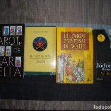 Libros de segunda mano: LOTE LIBROS TAROT. MAR SELLA, EDITH WAITE, MARGARET GUFFEY Y JODOROWSKY METAGENEALOGIA. Lote 133025054