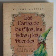 Libros de segunda mano: LAS CARTAS DE LOS ELFOS, LAS HADAS Y LOS DUENDES - TIZIANA MATTERA (INCLUYE BARAJA DEL TAROT). Lote 139914646