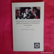 Libros de segunda mano: TÉCNICAS ADIVINACIÓN CON BARAJA ESPAÑOLA. SU METODOLOGÍA. MARTA RODRIGUEZ ARANGUEZ. LUANA EDIT 1996.. Lote 148521074