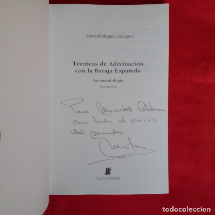 Libros de segunda mano: TÉCNICAS ADIVINACIÓN CON BARAJA ESPAÑOLA. SU METODOLOGÍA. MARTA RODRIGUEZ ARANGUEZ. LUANA EDIT 1996. - Foto 2 - 148521074