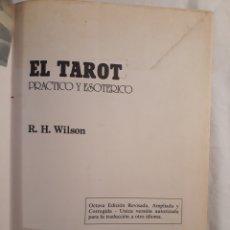 Libros de segunda mano: EL TAROT PRACTICO ESOTERICO.RH WILSON.1987.. Lote 151861284