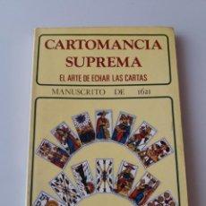 Libros de segunda mano: CARTOMANCIA SUPREMA. EL ARTE DE ECHAR LAS CARTAS. Lote 155498174