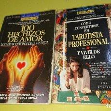 Libros de segunda mano: LOTE 100 HECHIZOS DE AMOR Y COMO CONVERTIRSE EN TAROTISTA PROFESIONAL - PREDICCIONES. Lote 171457988