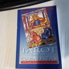 Libros de segunda mano: LIBRO TAROT DE LOS CABALISTAS. EN BUEN ESTADO.. Lote 168853212