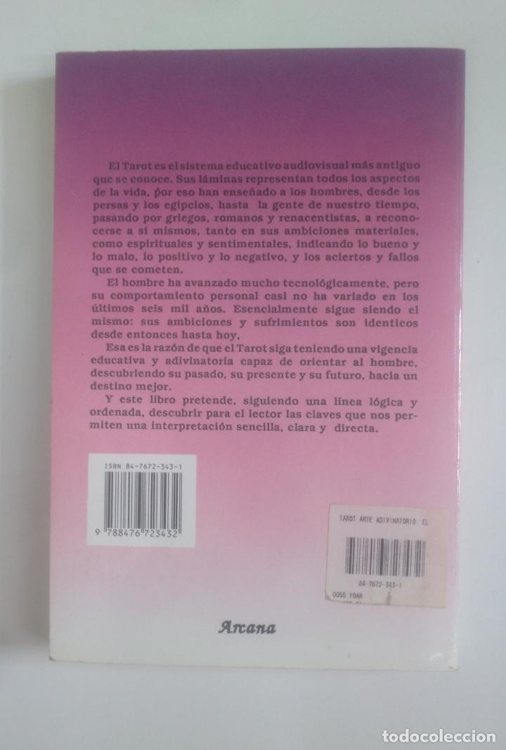 Libros de segunda mano: El Tarot. Julián Torres y Reyes. Arte adivinatorio. COLECCION EL SENDERO. TDK389 - Foto 2 - 170207840