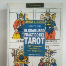 Libros de segunda mano: EL GRAN LIBRO PRACTICO DEL TAROT-. DIDIER COLIN -. MARTINEZ ROCA. TDK389. Lote 170209444