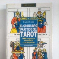 Libros de segunda mano: EL GRAN LIBRO PRACTICO DEL TAROT. DIDIER COLIN -. MARTINEZ ROCA. TDK388. Lote 170299976