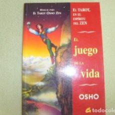Libros de segunda mano: EL JUEGO DE LA VIDA , OSHO , EL TAROT EN EL ESPIRITU ZEN , MANUAL PARA EL TAROT OSHO ZEN. Lote 178975758